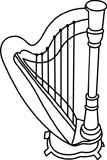 Harp clipart black and white Instrument Black music%20instrument%20clipart%20black%20and%20white Clipart Music