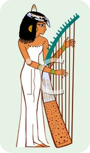 Harp clipart small hand Clipart Egyptian Royalty a of