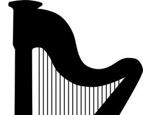 Harp clipart classic Clip free Harp silhouette Download
