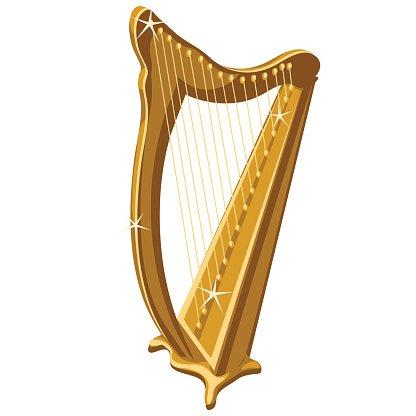 Harp clipart classic Sparkle Gold Classic Classic premium