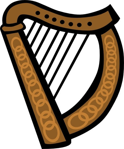 Harp clipart drawing Art Harp Simple Simple Celtic