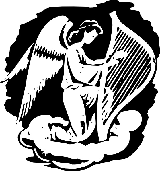 Harp clipart drawing Playing Harp Harp Angel clip