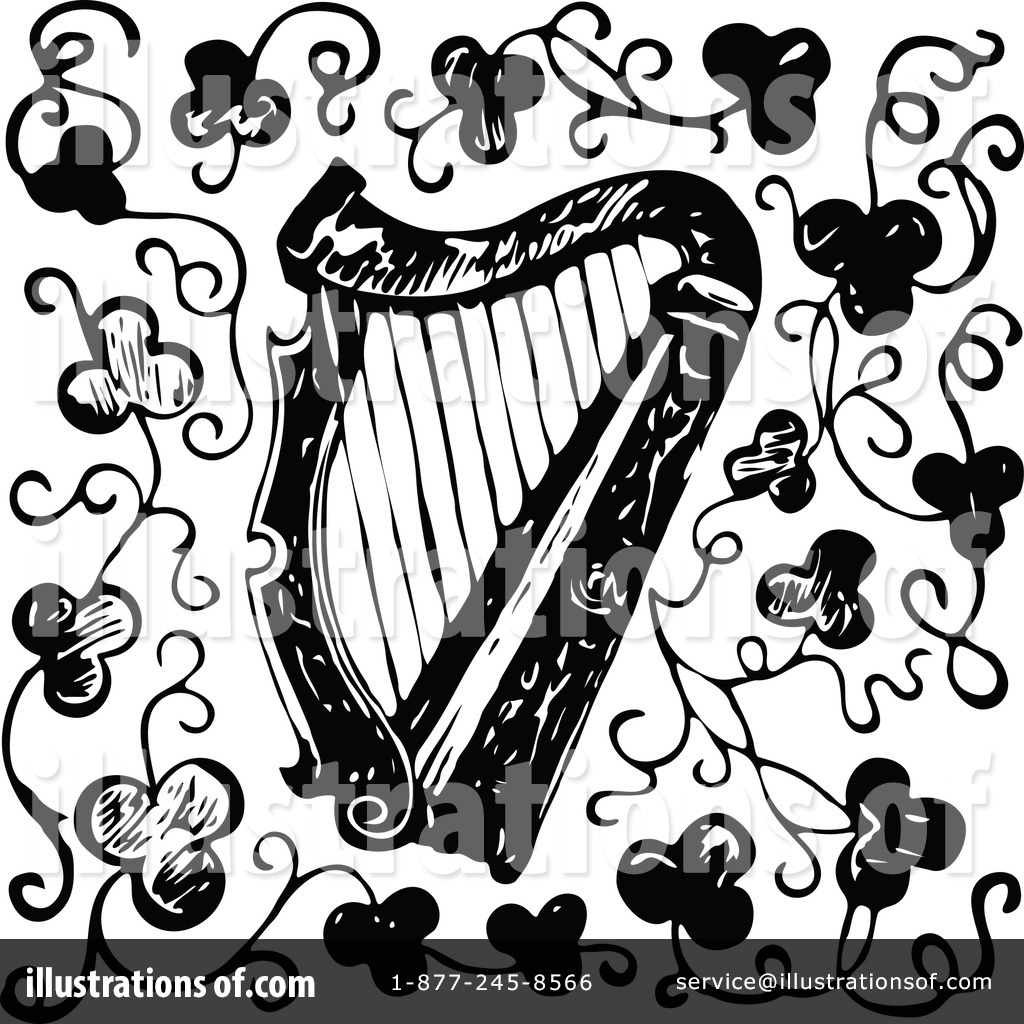 Harp clipart drawing Clipart #1135316 (RF) by Royalty