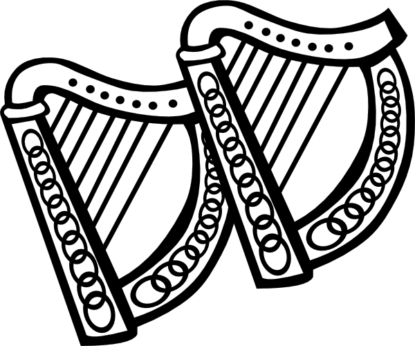 Harp clipart drawing Art image at Download Clker
