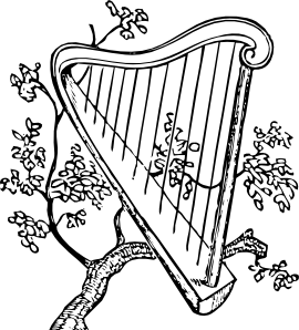 Harp clipart drawing And Branch Branch Harp Clip