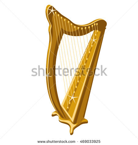 Harp clipart gold Golden collection Instrument a harp