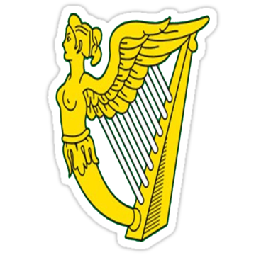 Harp clipart gold Sizing by Redbubble IRISH IRELAND
