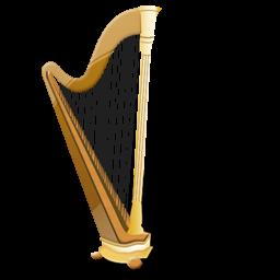 Harp clipart golden harp IconBug com PNG Icon Format:
