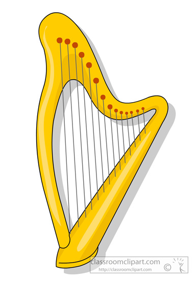 Harp clipart golden harp Clipart Harp Harp ClipartBarn instruments
