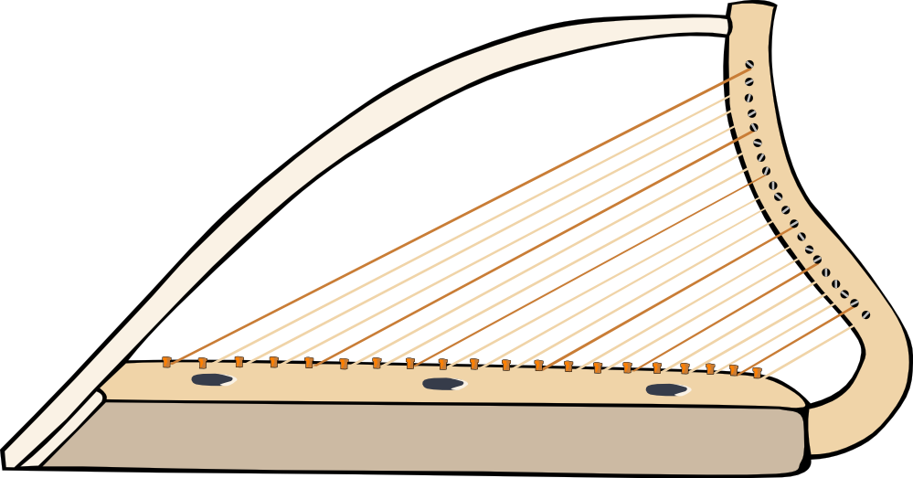Harp clipart golden harp Free Clip  Golden Harp