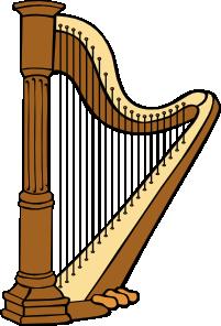 Harp clipart golden harp At Clker vector Harp online