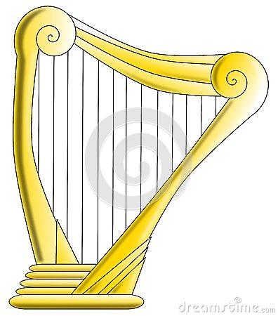 Harp clipart golden harp Harp Golden golden (22+) logo