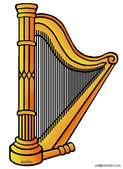 Harp clipart golden harp Clip Art Clipart with Art