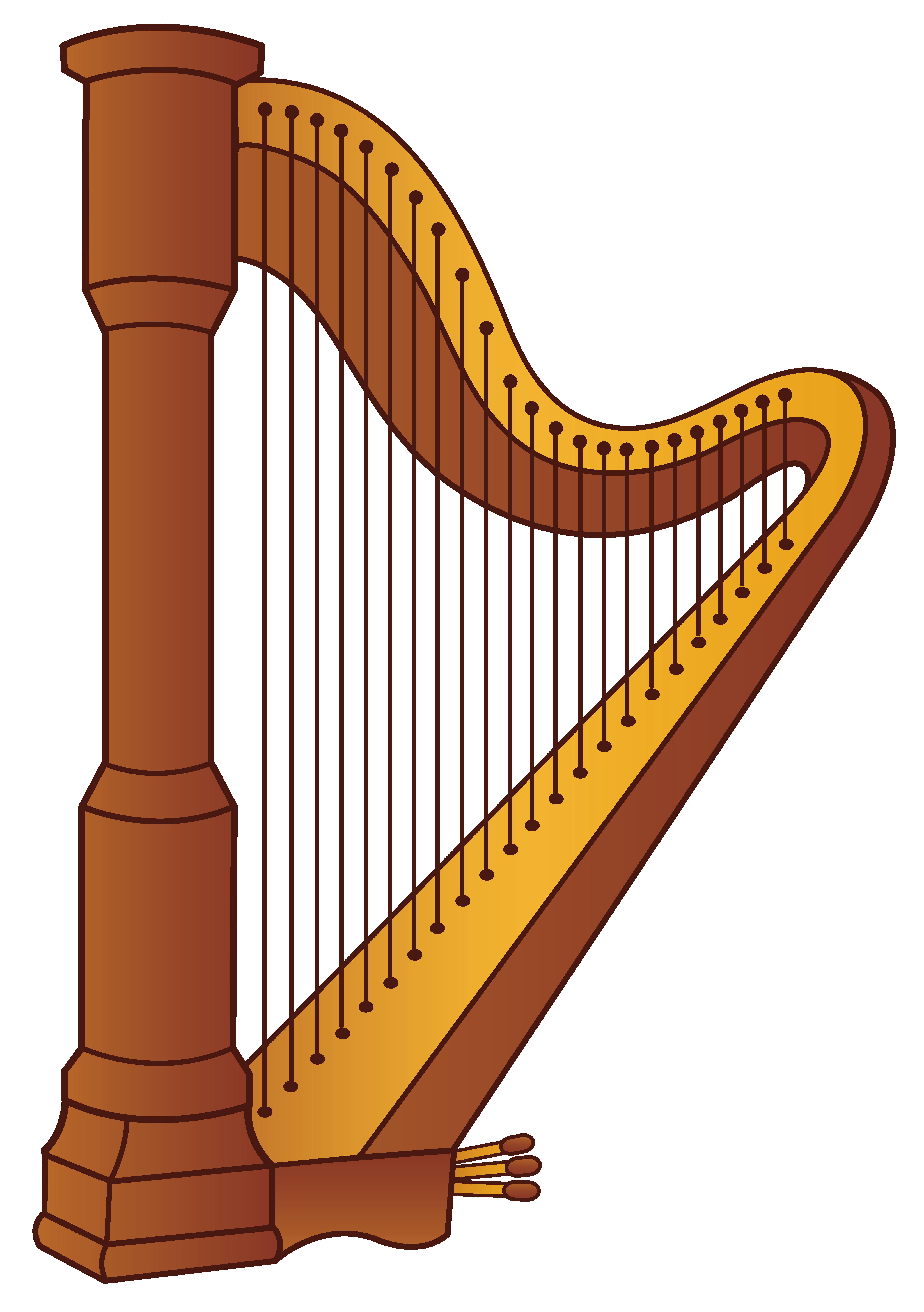 Harp clipart golden harp Yopriceville High  full PNG