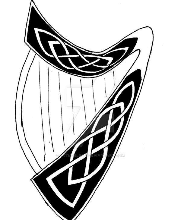 Harp clipart guinness Harp DeviantArt irish by pktmerlin85