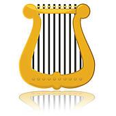 Harp clipart hand Free harp Harp Art Glossy