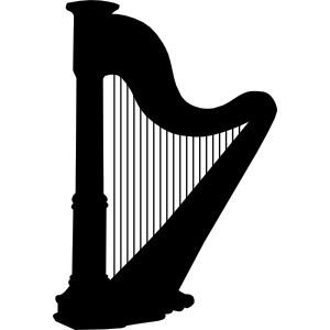 Harp clipart hand Clipart Silhouette hand Hand Harp