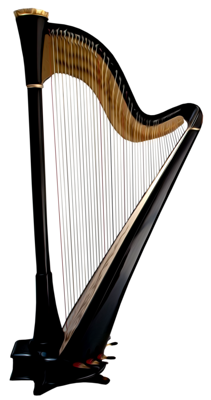Harp clipart gold View  Quality Gallery High