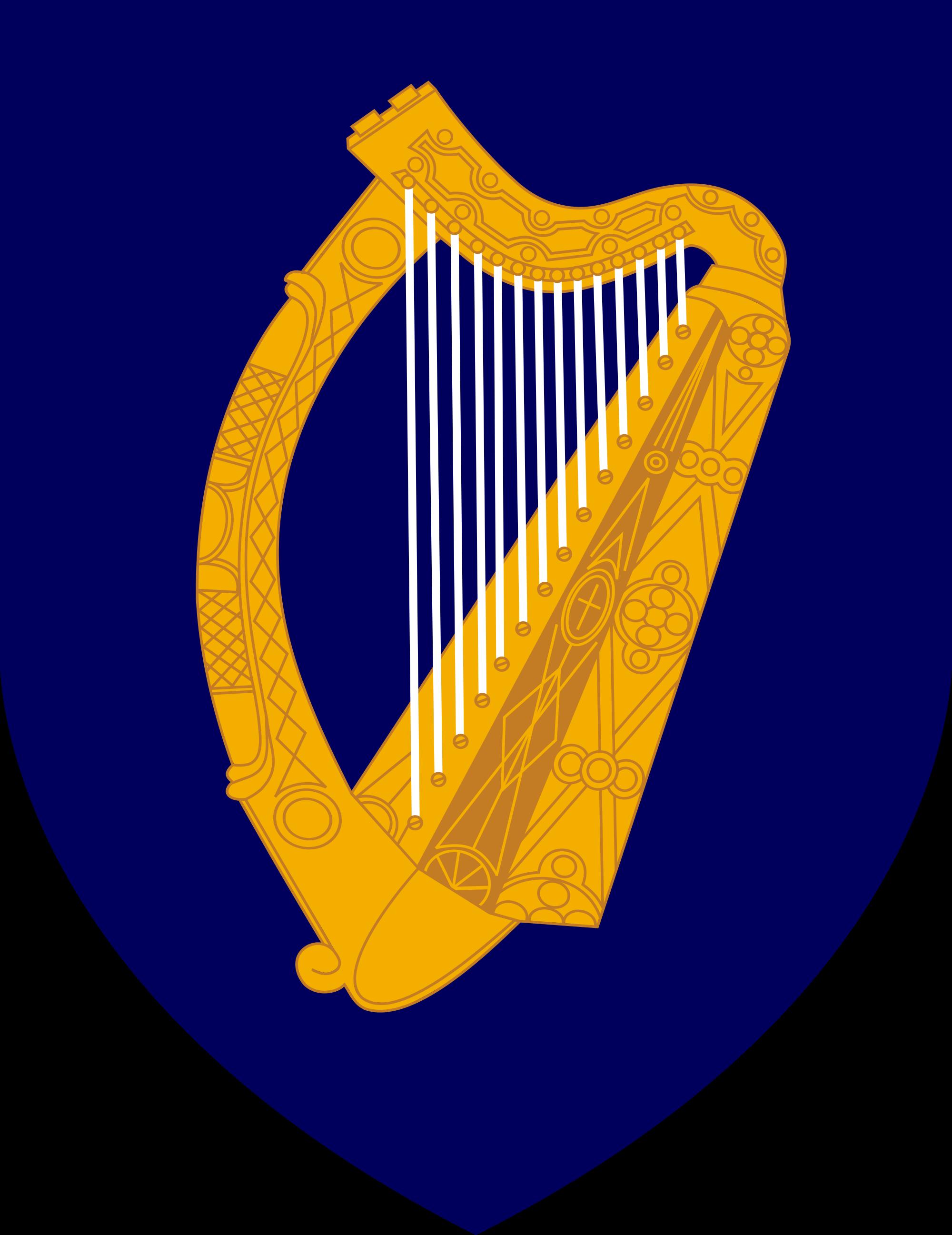 Harp clipart heraldic Ireland on of the Coat