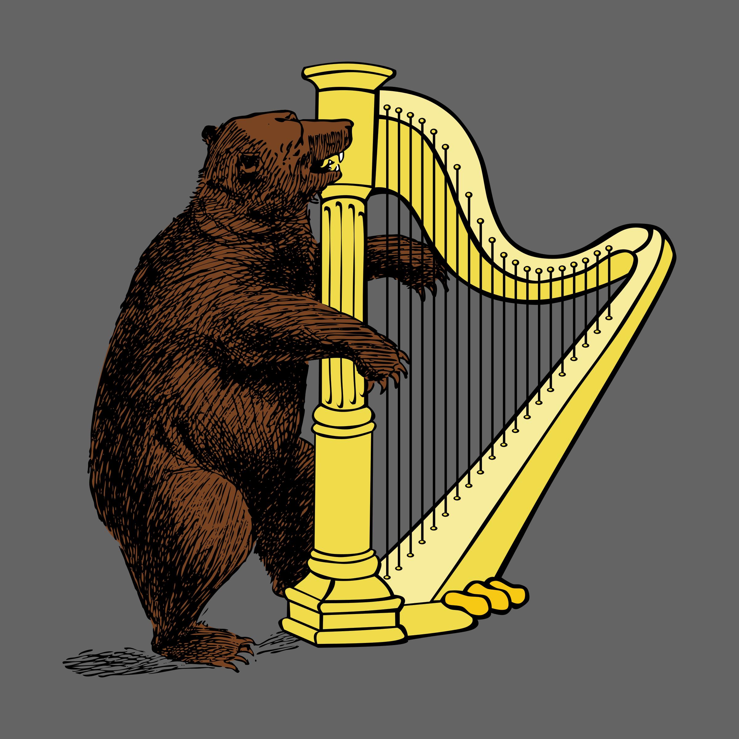 Harp clipart heraldic And harp and bear harp
