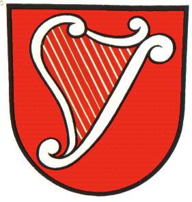 Harp clipart heraldic Von crest) Heddesbach of von