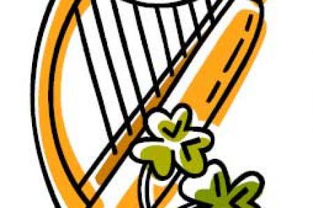 Harp clipart irish harp Celtic irish Art UK Clip