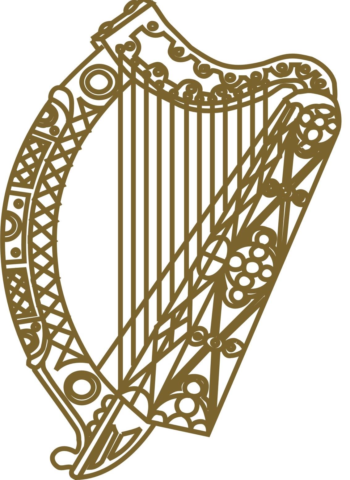 Harp clipart irish harp Transparent Pictures ClipartBarn art harp
