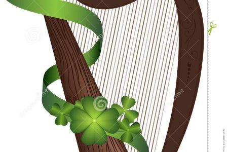 Harp clipart irish harp Patrick Art Irish UK harp