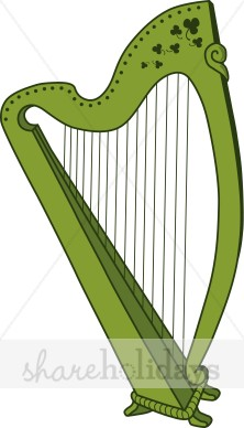 Harp clipart wind instrument Irish Clipart Patrick's Clipart Irish