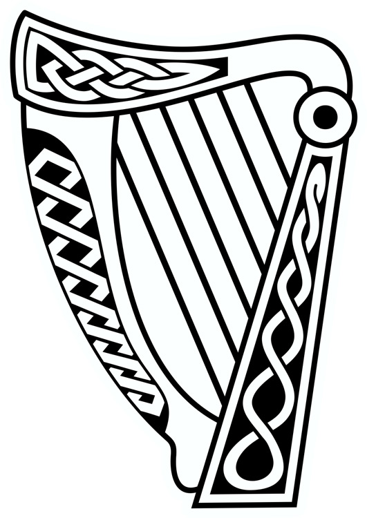 Harp clipart irish harp Irish Layout Celtic Transfer &
