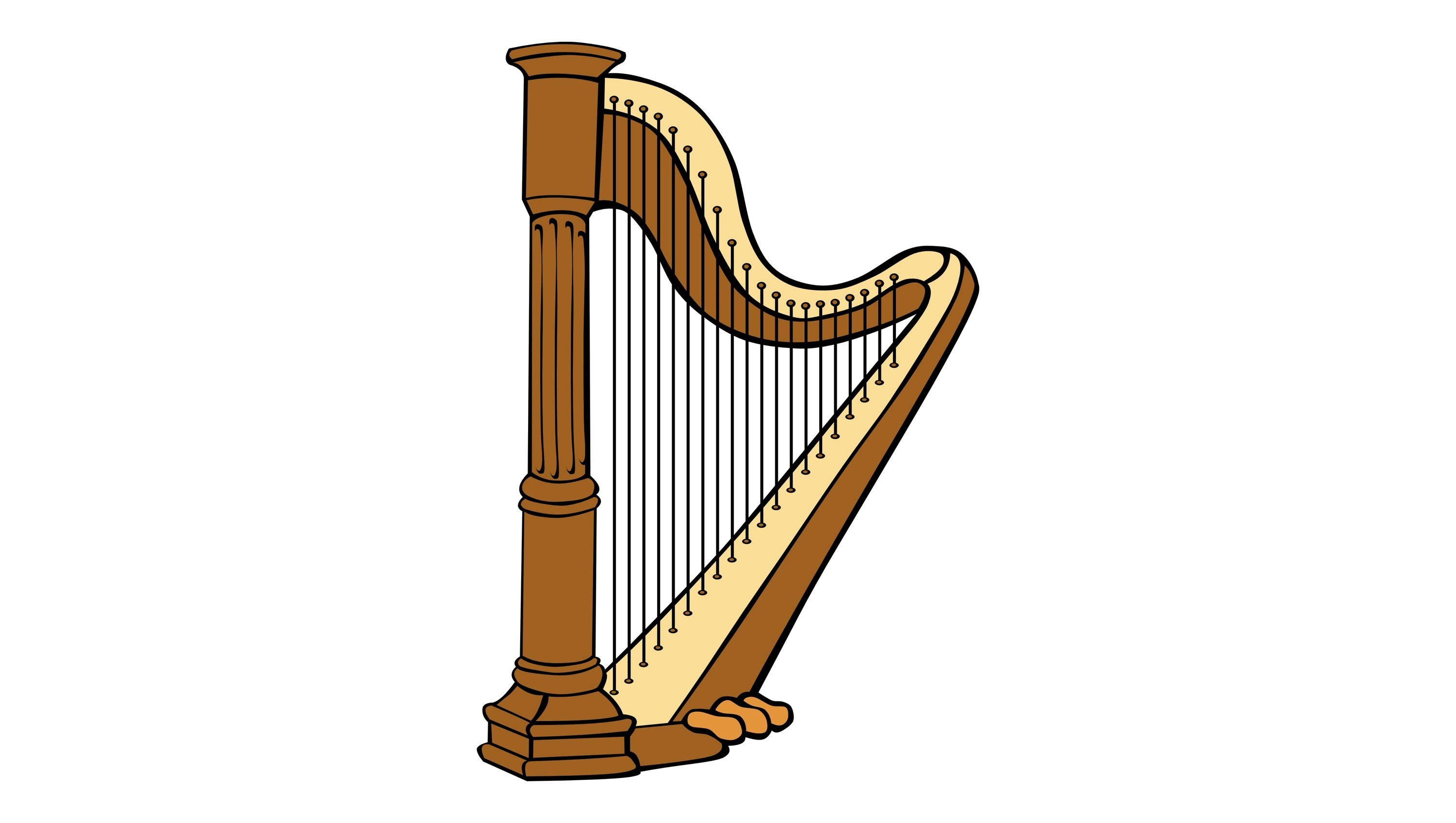Noise clipart instrumental music Harp effect Harp sound effect