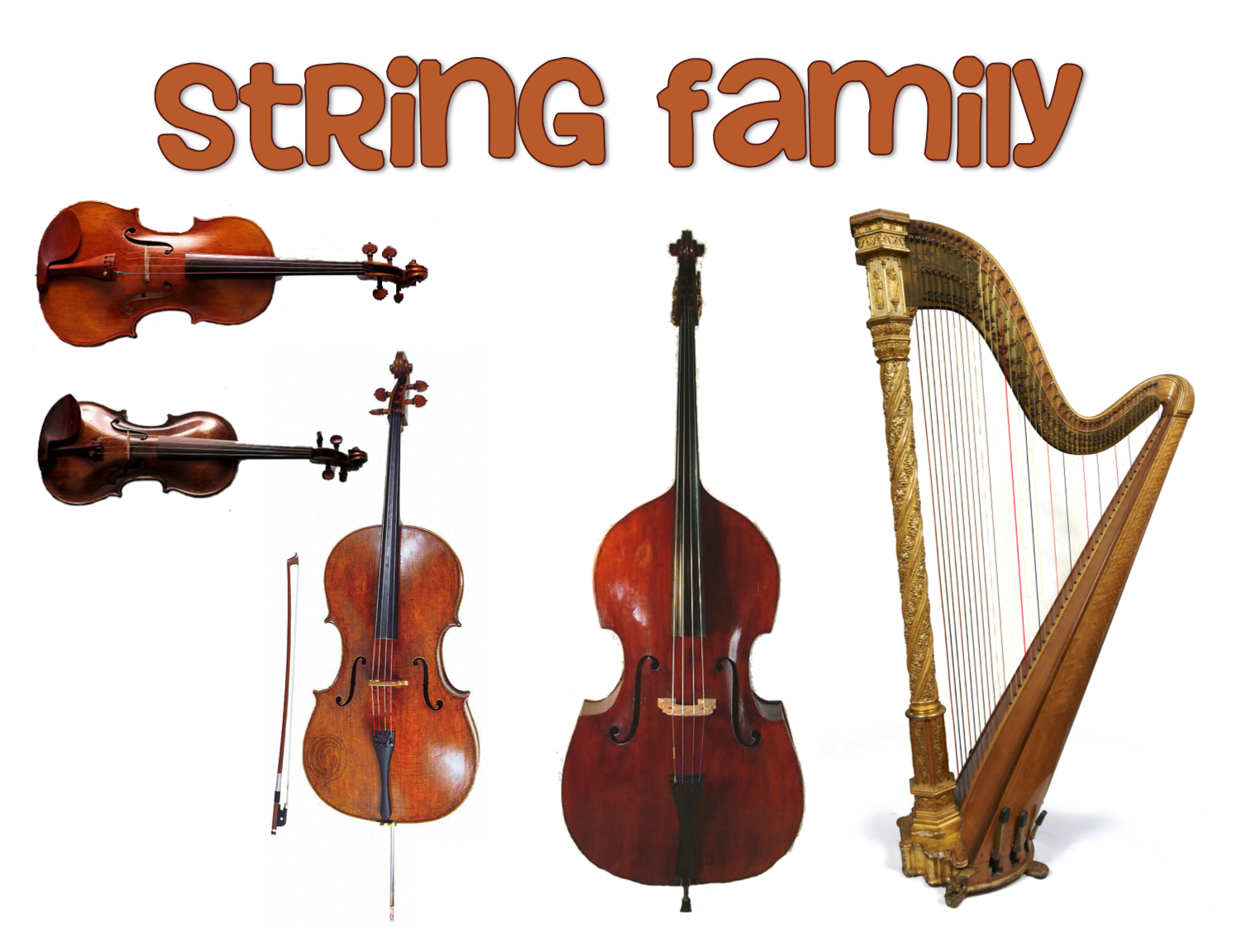 Harp clipart orchestral Of text Glogster music video