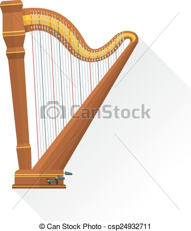 Harp clipart orchestral Background vector flat orchestral vector