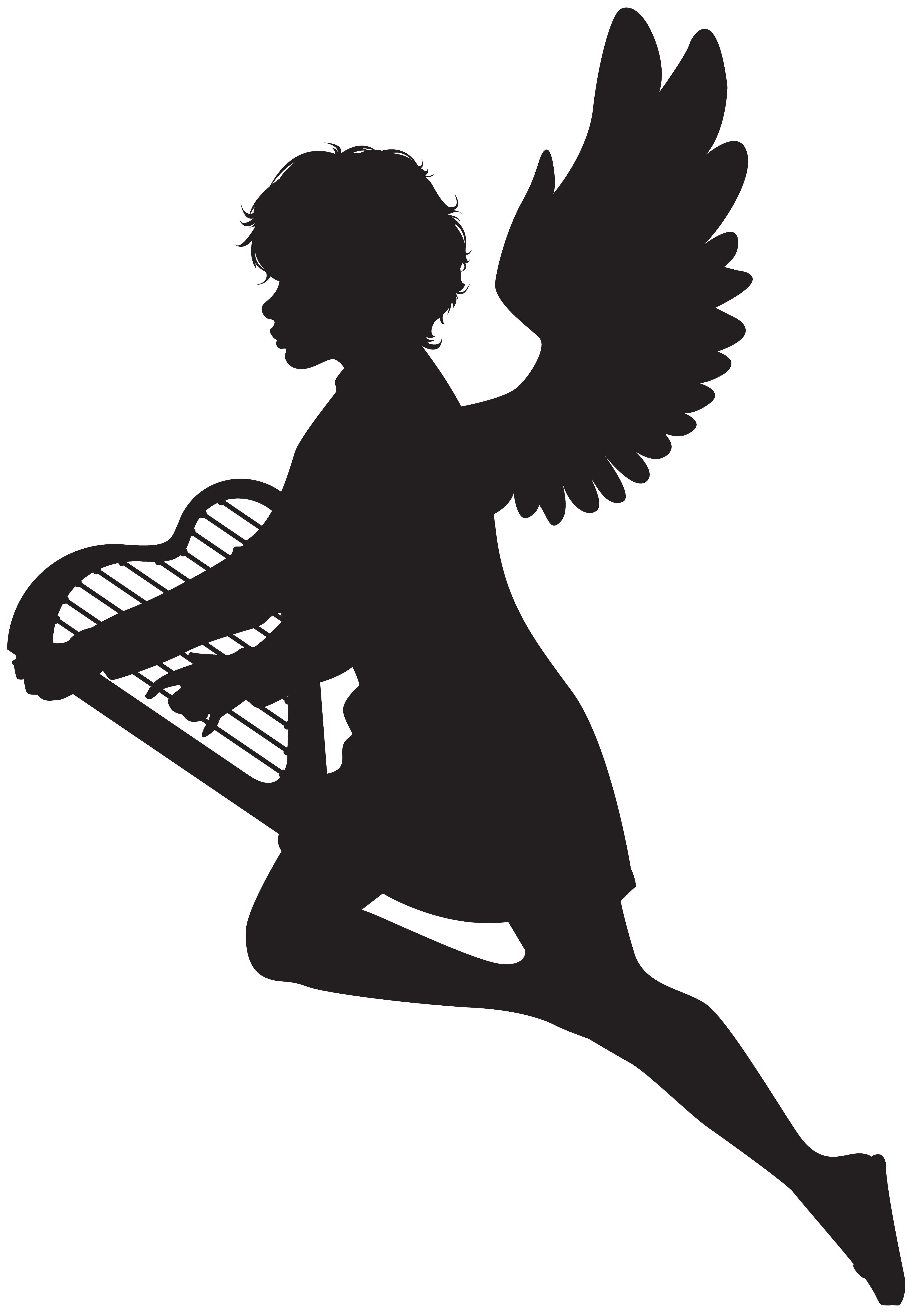 Harp clipart silhouette View  Silhouette full Gallery
