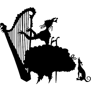 Harp clipart silhouette Tags: of Woman  Woman