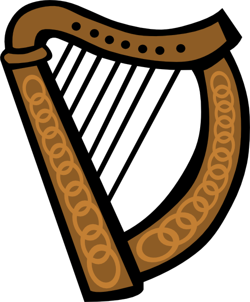 Harp clipart simple #3