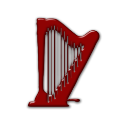 Harp clipart string instrument Harp Icon » Legacy Etc