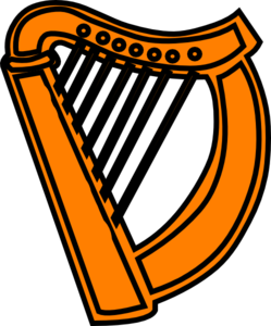 Harp clipart simple #1