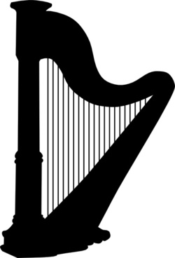 Harp clipart simple #9