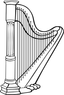 Harp clipart simple #2