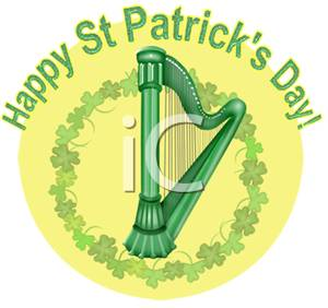 Harp clipart st patricks day St With Patrick's Free Free
