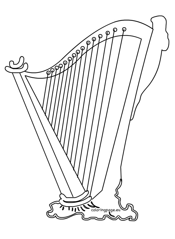 Harp clipart st patricks day Irish Patrick's Clipart Coloring Day