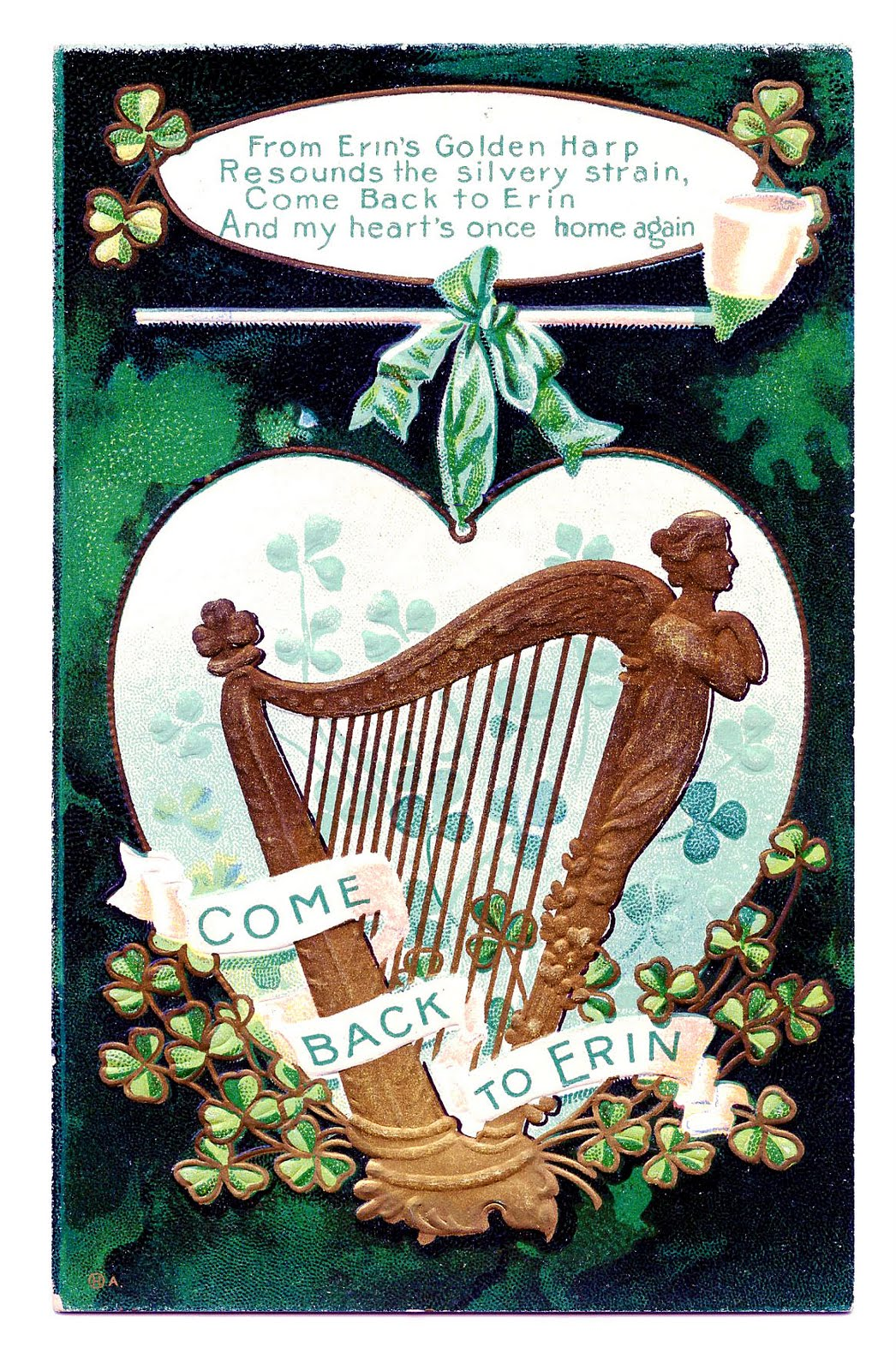 Harp clipart st patricks day St Art Clip Vintage Graphics