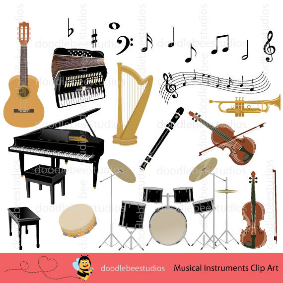 Harp clipart string instrument Musical Harp Clipart Clipart Music
