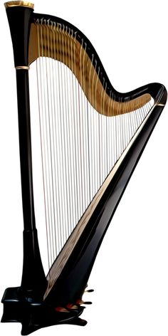 Harp clipart string instrument Russian long Art string necked