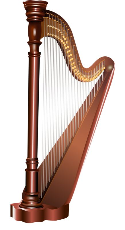 Harp clipart string instrument 158 about VÝCHOVA images Pinterest