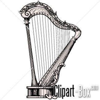Harp clipart string instrument Harp Illustration Pinterest Sketch/ images