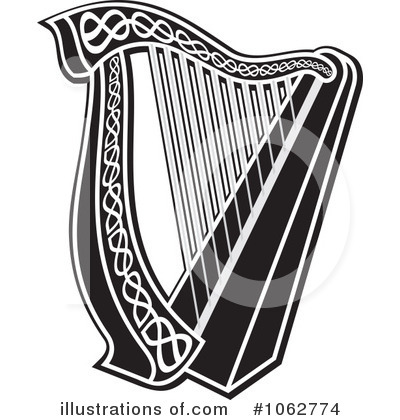 Harp clipart vector Any Royalty Free Vector #1062774
