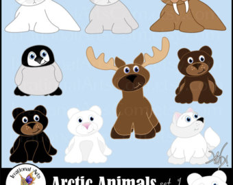 Polar Fox clipart arctic seal New 9 graphics Animals arctic