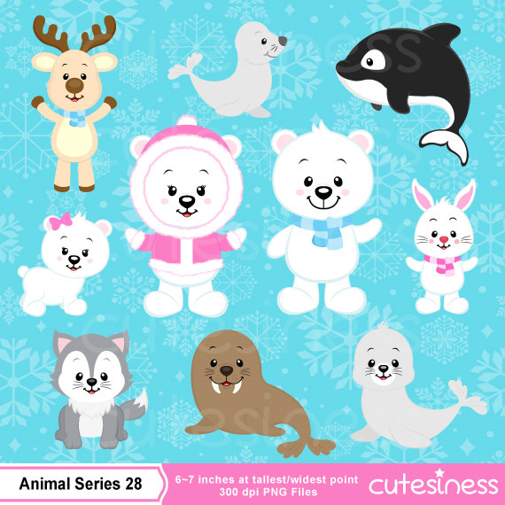 Winter clipart winter animal Animal clipart Polar clipart bear
